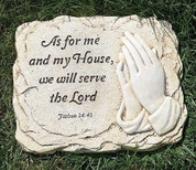 Garden Flat Stone As For Me and My Home Joshua 24:45 RO68038