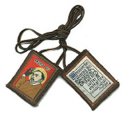 Scapular Padre Pio Brown On Cord ZR7788S