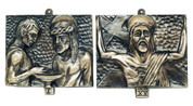 """Stations Of The Cross   7"""" x 6""""   Brass   Available In 2 Finishes   For Church   Made In Italy"""