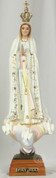 "Our Lady of Fatima with Crown Hand Painted Glass Eyes 13"" 3637 RI36307"