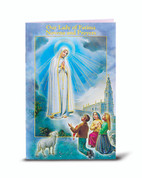 Our Lady of Fatima Novena Novena Prayers Booklet with artwork of fratelli bonella 24 pages measures 3 and 3 quarters by 6 inches HI243216