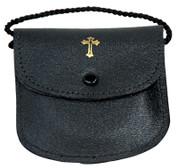 Burse for Pyx | Black Leather | Snap Button | Cord