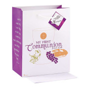 My First Communion with John 6:35 on Gift Bag Size Medium DIGB4033