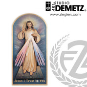 Divine Mercy relief panel  available in 24 36  or 60 inch heights and bronze color or white finish made of Fiberglass Crafted In Italy DM10049A