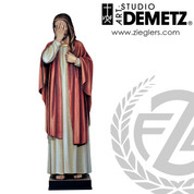 Weeping Jesus Statue stands 48 inches tall made of Linden Wood in choice of natural, stain or color finishes crafted in Italy DM10057