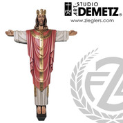 Christ Rex for cross made of linden wood in choice of 5 sizes and choice of color stained or natural finish crafted in Italy DM110C
