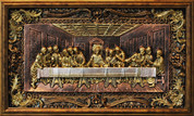 "Last Supper Gold Toned and Glitter Accent Framed Artwork 15"" x 25"" ELIVFG5HG"