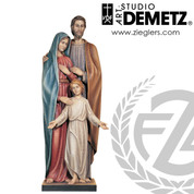 Holy Family statue made of fiberglass or linden wood in height of 36 48 60 or72 inches and choice of finishes Crafted In Italy DM14016