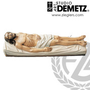 Christ In the Tomb Statue in Fiberglass or linden wood choice of 43 60 or 68 inches and choice of bronze color or white marble finish Crafted In Italy DM185