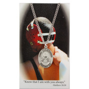 St Christopher Wrestling Sports Medal on Chain MAPSD675WR