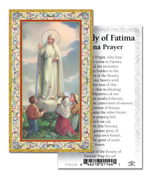 Holy Card Our Lady of Fatima Novena Prayer Style 734259