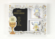 First Communion Missal Set Boy Book, Rosary, Pocket Token LUM108622107
