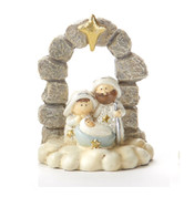 1 Piece Mini Nativity | Resin | Stone Look | Gold Star Accent | 3"