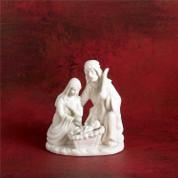 "Holy Family Figurine | 4-1/2"" | Porcelain | White | Christmas Nativity | CHNAT123"
