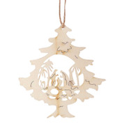Holy Family Ornament | Tree | Nativity | Laser Cut Wood | 4"