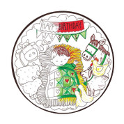 Happy Birthday Jesus Ornament | Colorable | Celtec PVC | 4-1/2"""
