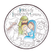 Jesus Is the Reason Ornament | Colorable | Celtec PVC | 4-1/2"""