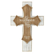 "Marriage Wall Cross | 8""x 10"" 
