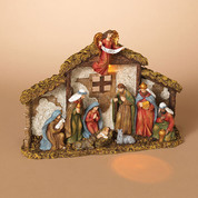 "1 Piece Nativity | Resin | Lighted | Animals & Wise Men | 12"" x 9"" 