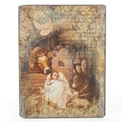 "Wall Plaque | Jesus & Animals | 15"" x 11-1/2"" 