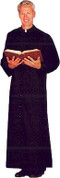 Adult Altar Server Cassock with Snaps in Extra Full Cut