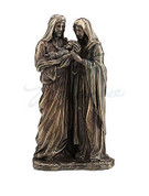 Holy Family Figurine of Jesus Mary and Joseph made Bronze measures 9 inches USIWU77194A4