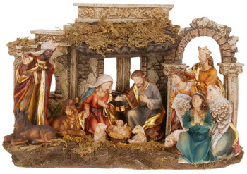 "Nativity in Ruins Figurine Size 8.5"" Made from Resin Style 6310510"