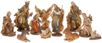 "Nativity inf Florentine Design in 11 Piece Set Size 11"" Made from Resin Style 6310514"