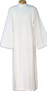 Clergy alb with shoulder zip made of poly wool blend in 3 sizes by beau veste in u s s GA4337