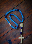 Chews Life rosary beads with miraculous medal centerpiece made of silicone for children SPRBSR