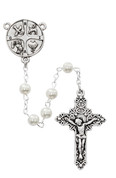 RCIA rosary beads with sacraments centerpiece and faux pearl beads MAP269R