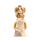 Lighted Angel figurine features memorial poem  measures 8 inches high DIANGR1024