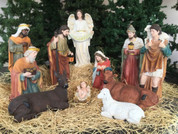 12 pc Nativity Set | Fiberglass | 32""