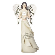 Kindness Angel Statue | Cross & Embellished Wings | 11"