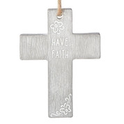 wall cross reads have faith measures 4 inches high made of cement RO13268