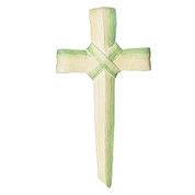 Easter Palm Wall Cross | Looks Like Folded Palm Frond | 7-1/2"
