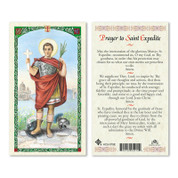 St Expedite Holy Card With Prayer Laminated SIHC9079E