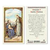 "Santa Monica Holy Card | Spanish | Prayer |  Cardstock | Laminated | 4-1/2"" x 2-1/2"" | Italy | HC9102S"