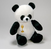 First Communion Panda Bear | Black & White | 7"