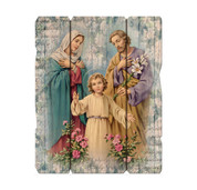 "The Holy Family on a Vintage Wall Plaque size 7-1/2"" x 9"" HI2548360"