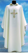 Gothic Chasuble | Embroidered Collar | Solivari | 653W51GRU
