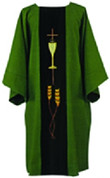 Dalmatic by Harbro Style 929 in Green, Off White