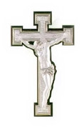 Crucifix | Sterling Silver | Wood | 12-1/2"