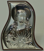 Christ in Sterling Silver on Wooden Plaque