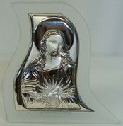 Christ Table Top Sterling Silver Plaque