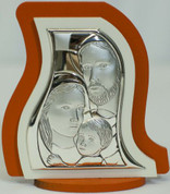 Holy Family Sterling Silver Plaque Style 9500071
