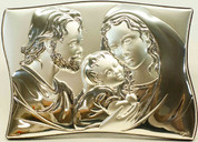 Holy Family Sterling Silver Plaque Style 95092