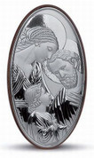 Holy Family Sterling Silver Plaque Style 953664