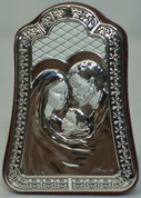 Holy Family Sterling Silver Plaque Style 954200