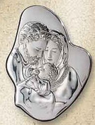 Holy Family Style 556 Sterling Silver Plaque